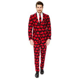 Men's OppoSuits Slim-Fit King of Hearts Suit & Tie Set