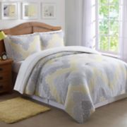 Laura Hart Kids Antique Lace Chevron Print Comforter Set