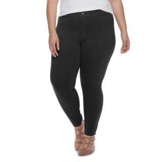 Plus Size Utopia by HUE Felted Twill Jean Skimmer Leggings
