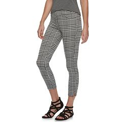 Women's Utopia by HUE Ankle Slit Wide Waistband Houndstooth Skimmer Leggings