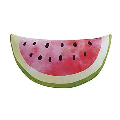 Laura Hart Kids Fruity Watermelon Shaped Throw Pillow