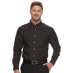 Men's Haggar Classic-Fit Stretch Poplin Button-Down Shirt