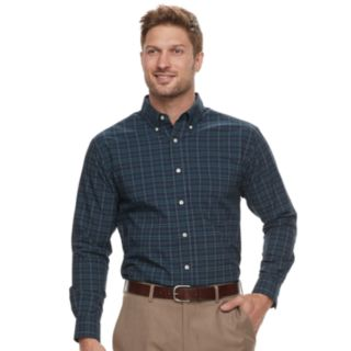 Men's Haggar Classic-Fit Stretch Poplin Button-Down Shirt