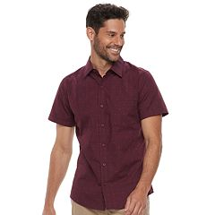 Men's Haggar Classic-Fit Tuckless Button-Down Shirt