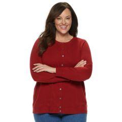 Womens Plus Cardigan Sweaters Tops Clothing Kohls