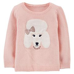 Baby Girl Carter's Lurex Poodle Sweater
