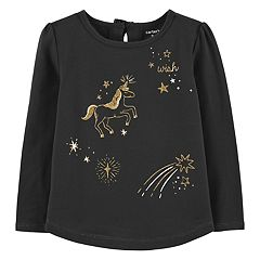 Baby Girl Carter's Glittery Unicorn Tee