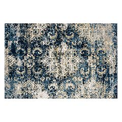 Loloi Torrance Floral Scroll Medallion Rug