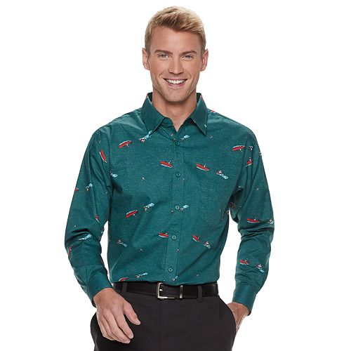 Men's Haggar Regular-Fit Button-Down Shirt