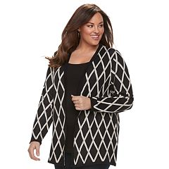 Plus Size Croft & Barrow® Geometric Extra Cozy Cardigan