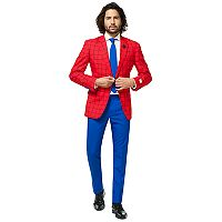Men's OppoSuits Slim-Fit Spider-Man Suit & Tie Set