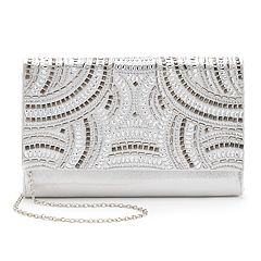 Gunne Sax by Jessica McClintock Nora Studded Satin Crossbody Clutch