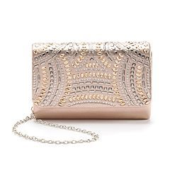 Gunne Sax by Jessica McClintock Alexis Studded Satin Crossbody Clutch