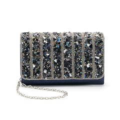 Gunne Sax by Jessica McClintock Harper Studded Satin Crossbody Clutch