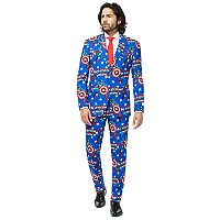 Men's OppoSuits Slim-Fit Captain America Suit & Tie Set