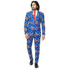 Men's OppoSuits Slim-Fit Captain America Suit & Tie Set