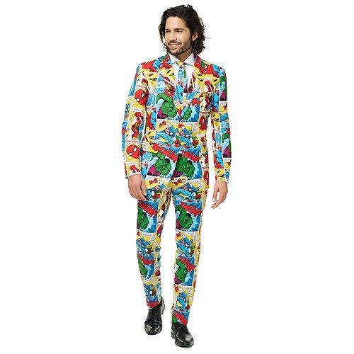 Men's OppoSuits Slim-Fit Marvel Comics Suit & Tie Set