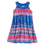Girls 7-16 blush Multi Print Halter Dress