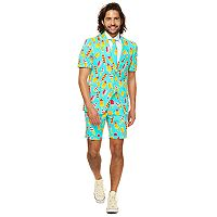 Men's OppoSuits Slim-Fit Iceman Summer Suit & Tie Set