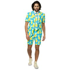 Men's OppoSuits Slim-Fit Shineapple Summer Suit & Tie Set