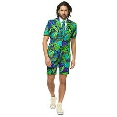 Men's OppoSuits Slim-Fit Summer Juicy Jungle Suit & Tie Set