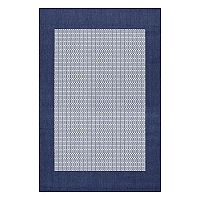 Couristan Recife Checkered Field Framed Woven Indoor Outdoor Rug