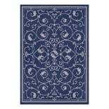 Couristan Recife Veranda Floral Scroll Indoor Outdoor Rug