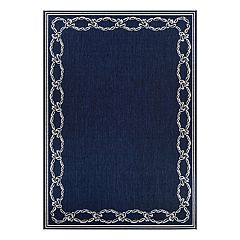 Couristan Recife Rope Knot Framed Indoor Outdoor Rug