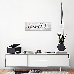 Artissimo Designs 'Thankful' Canvas Wall Art