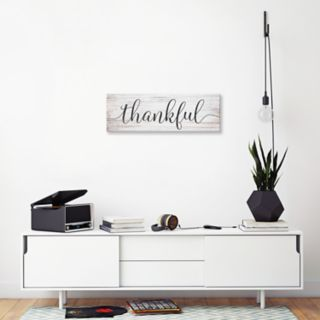 "Artissimo Designs ""Thankful"" Canvas Wall Art"
