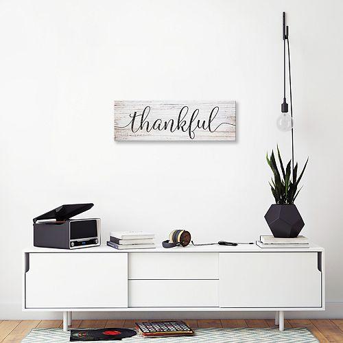 "Artissimo Designs ""Thankful"" Canvas Wall Art"