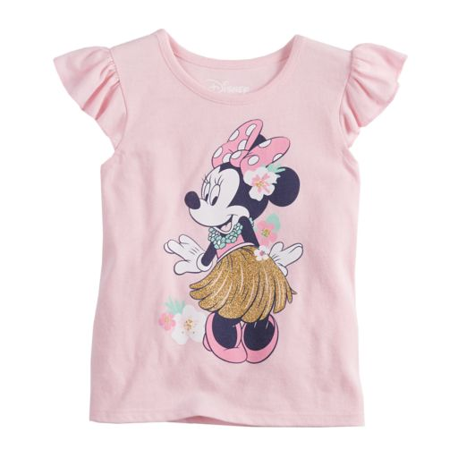 Disney's Minnie Mouse Toddler Girl Glitter Tropical Flutter Tee by Jumping Beans®