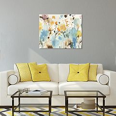 Artissimo Designs By The Garden Canvas Wall Art