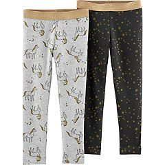 Baby Girl Carter's 2-pack Glittery Unicorn & Star Print Leggings