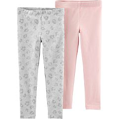 Baby Girl Carter's 2-pack Glitter Cheetah & Solid Leggings