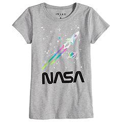 Girls 7-16 NASA Rainbow Graphic Tee