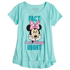 Disney's Minnie Mouse Girls 7-16 'Always Right' Graphic Tee