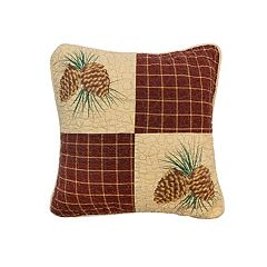Donna Sharp Pine Lodge Patch Throw Pillow