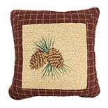 Donna Sharp Pine Lodge Pine Cone Throw Pillow