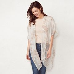 Women's LC Lauren Conrad Shadow Floral Kimono