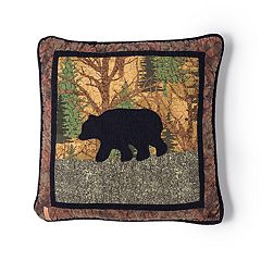 Donna Sharp The Little Cabin Bear Throw Pillow
