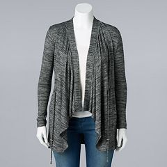 Women's Simply Vera Vera Wang Draped Open-Front Cardigan