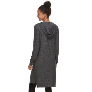 Juniors' It's Our Time Hatchi Hooded Duster Cardigan