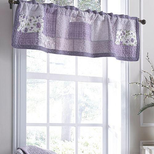 Donna Sharp Lavender Rose Window Valance