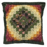 Donna Sharp Spice Postage Stamp Throw Pillow
