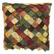Donna Sharp Spice Postage Stamp Roof Tile Throw Pillow