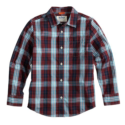 Boys 8-20 & Husky Urban Pipeline® Plaid Button-Down Shirt