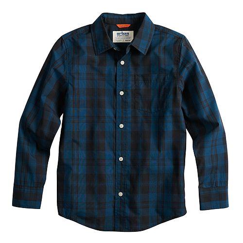 Boys 8-20 & Husky Urban Pipeline™ Plaid Button-Down Shirt