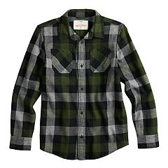 Boys 8-20 & Husky Urban Pipeline™ Button-Down Flannel Shirt