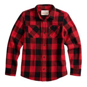 Boys 8-20 & Husky Urban Pipeline Plaid Button-Down Flannel Shirt